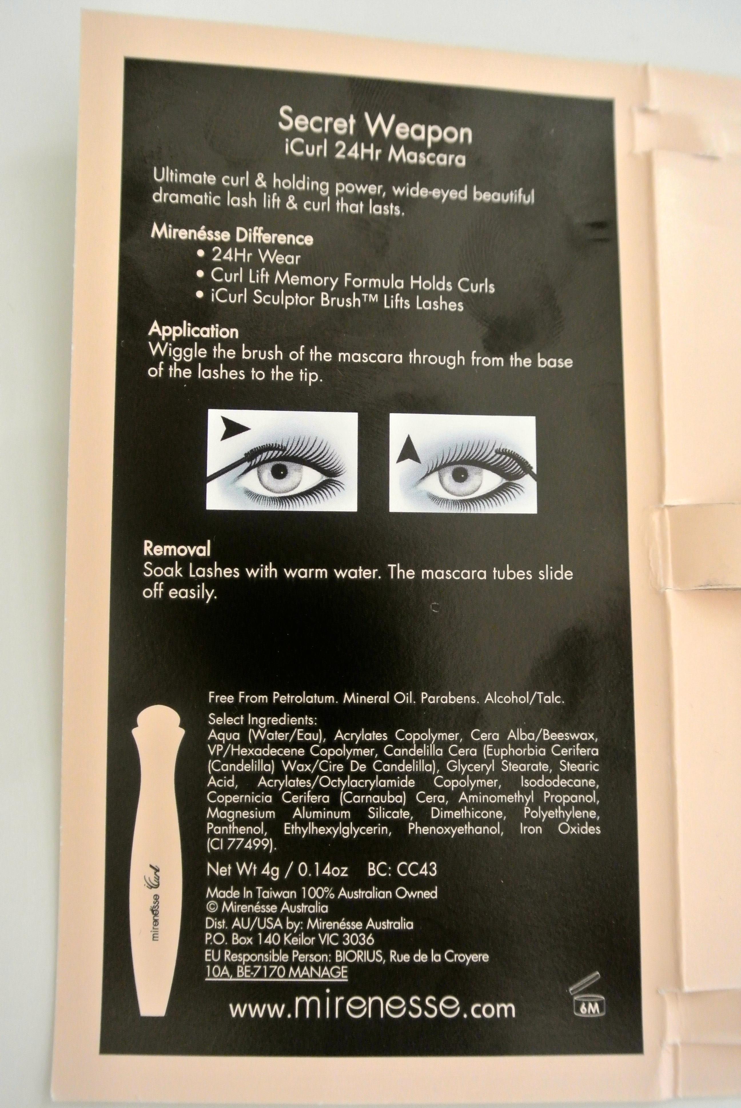Mirenesse Secret Weapon iCurl 24Hr Mascara Review - AmandaPhenomenon