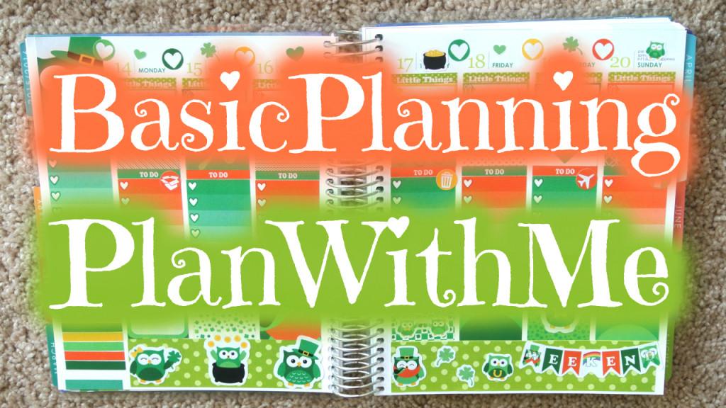 Mock Plan With Me - BasicPlanning