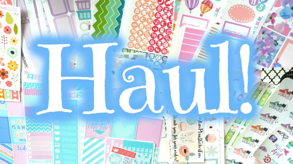 Haul ~ GlamPlanner, LittleMissPaperie, LexieKyleeDesigns, ScribblePrintsCo