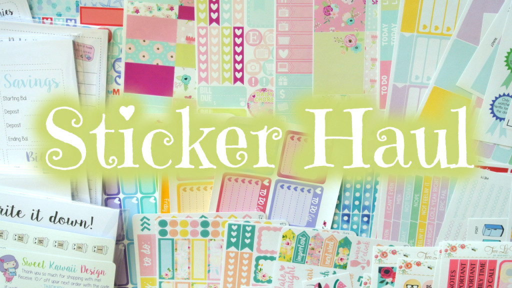 Etsy Sticker Haul ~ LittleMissPaperie, TwoLilBees, LexieKyleeDesigns and More!