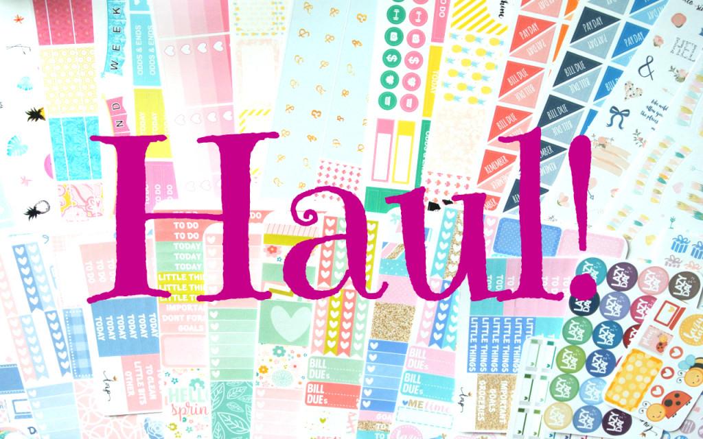 Etsy Sticker Haul ~ OneOrangeSnowflake, LittleMissPaperie, HelloSimplePaper