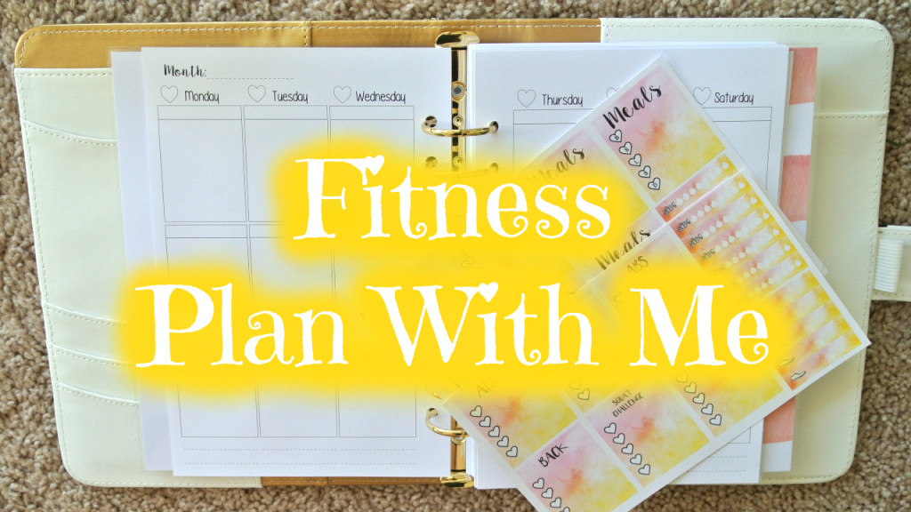 JoysPrettyPlanning Fitness Plan With Me on SweetKawaiiDesign A5 Inserts
